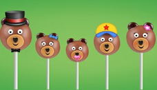 Bear Cake Pop Finger Family