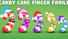Candy Cane Finger Family