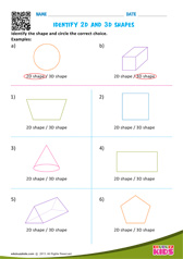 Identify 2D and 3D shapes