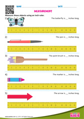 Measuring with inch ruler
