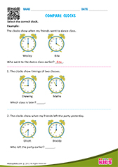 Compare clocks