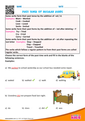 Past tense of regular verbs