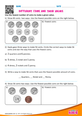 Different Coins and their Values