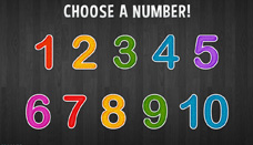 Write numbers 1 to 10
