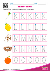 Beginning Sounds K to O