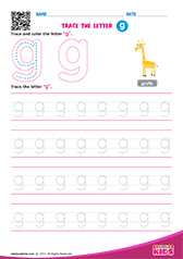 Write lowercase letter g