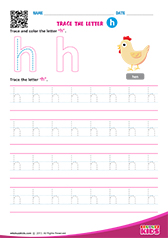 Write lowercase letter h