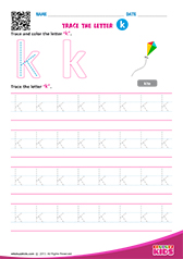 Write lowercase letter k