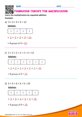 Foundation Concept for Multiplication