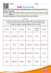 english identify nouns worksheets grade 1. Black Bedroom Furniture Sets. Home Design Ideas