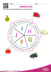 Alphabet Fruits Maze f to j