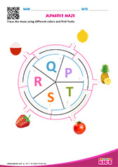 Alphabet Fruits Maze p to t